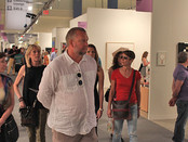 "Artist Sergey Fedotov at ""Art Miami"" and ""Art Basel"" in USA."