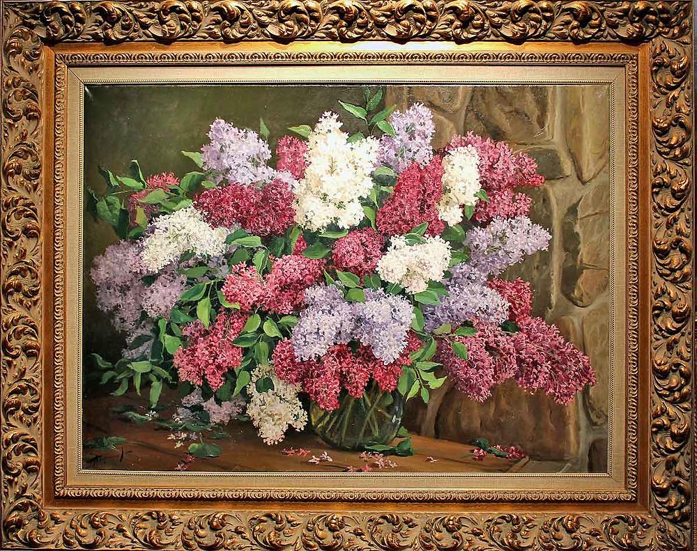 Заслуженный художник РФ Андрей Герасимов. Букет сирени