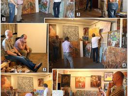 Мастерскую Сергея Федотова посетил известный искусствовед Андрей Владимирович Толстой.