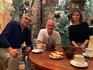 Состоялась встреча Валентина Рябова со скульптором Олегом Закоморным.