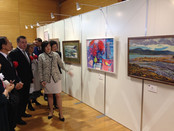 The artist of Valentine Ryabov Gallery Irina Miklushevskaya took part in the exhibition of Northeast