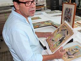 Команда Галереи в мастерской художника Брюса Хиландера (Bruce Helander).