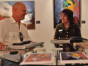 The interview with the organizer of an art show «MIAMI SEA FAIR» Lee Ann Lester.