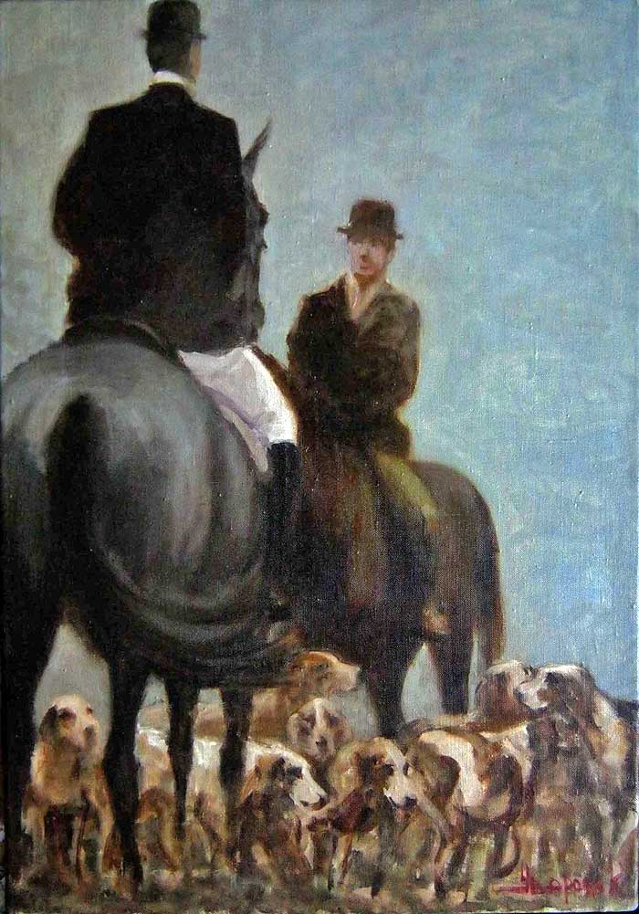 """Hunters and dogs"""