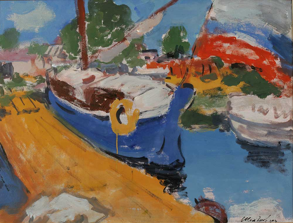 """Boat-yard on Volga"""