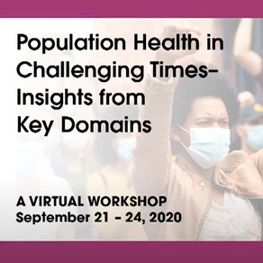 National Academies of Sciences, Engineering, and Medicine: Roundtable on Population Health Workshop