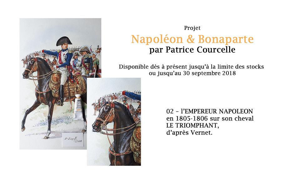 N&B Tirage 02 - L'EMPEREUR NAPOLEON SUR SON CHEVAL « LE TRIOMPHANT »