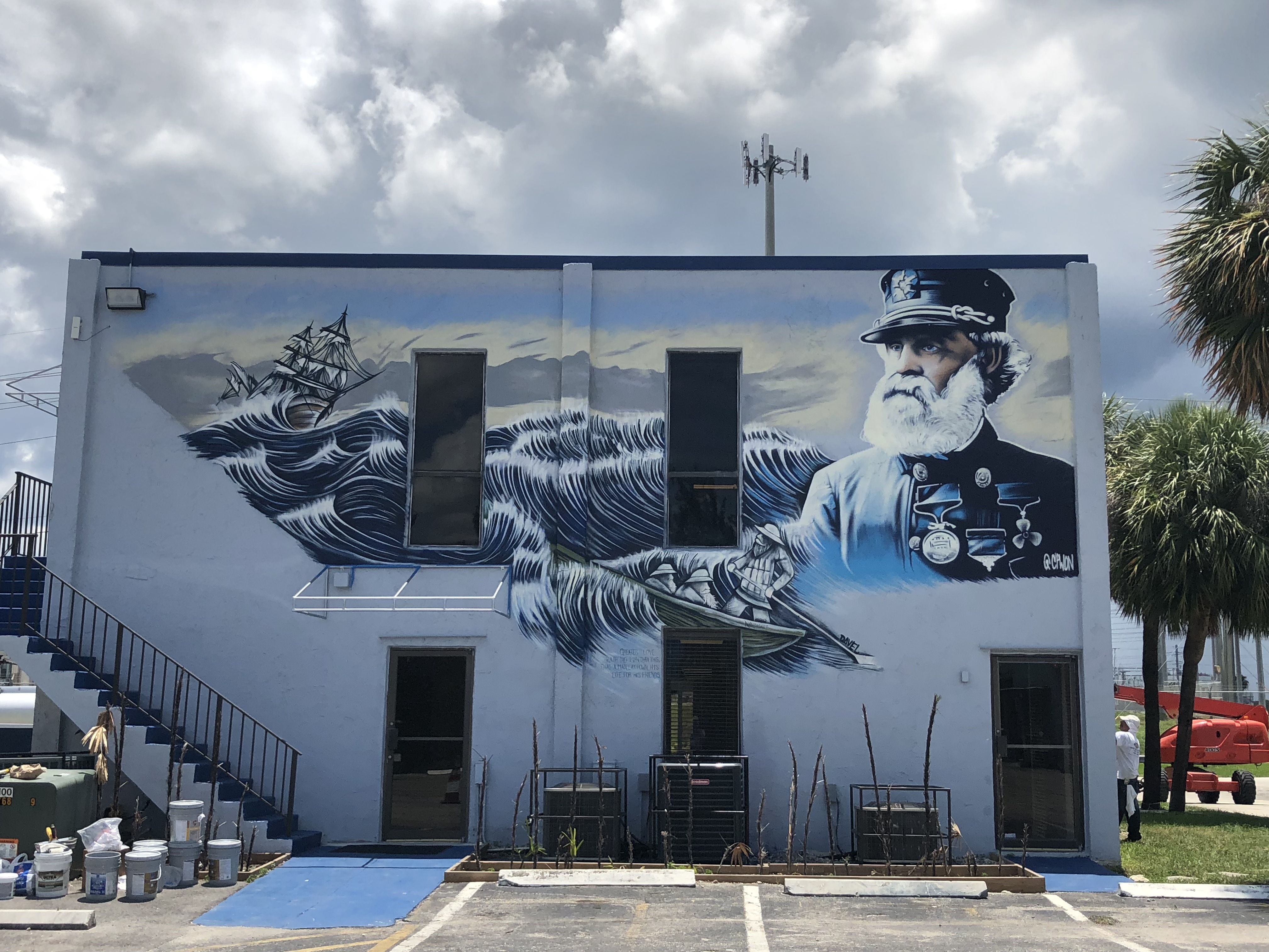 Captain Joshua James Mural Painting