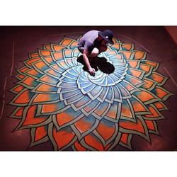 Mandala Floor Mural