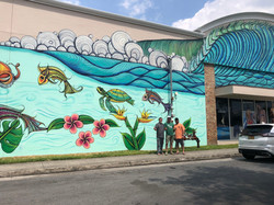Mural Painting at BC Surf and Sport