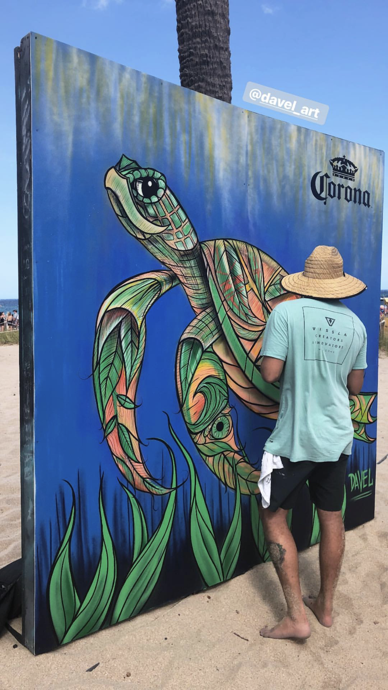 Turtle Wall Mural for Corona