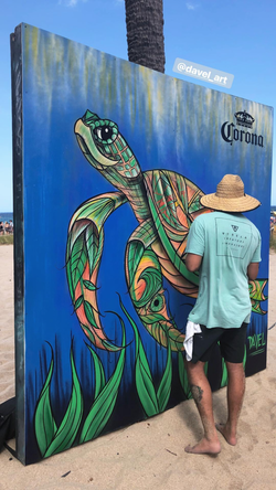 Turtle Wall Mural for Corona