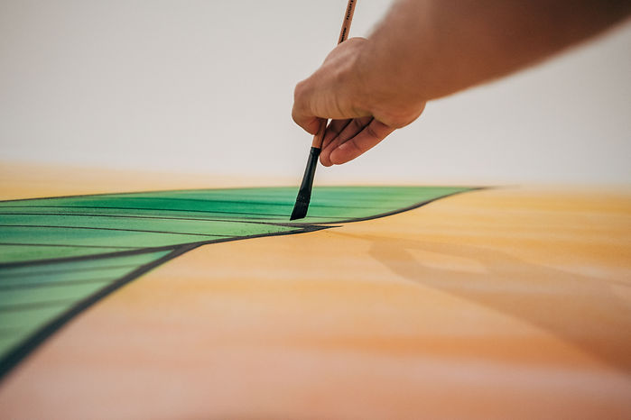 DaveL Painting a Leaf with Paintbrush