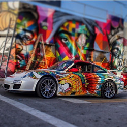 Painted Vinyl on Porsche