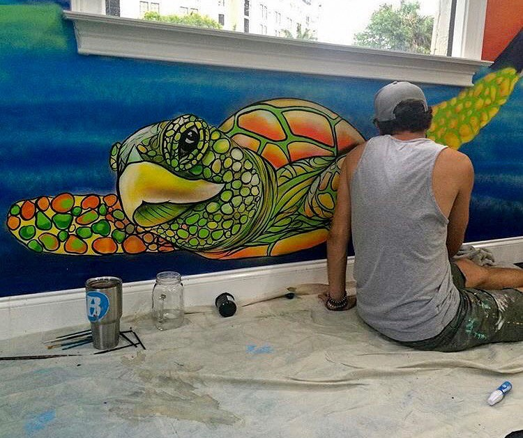 Turtle Mural Painting