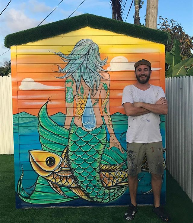 Mermaid Mural Painting