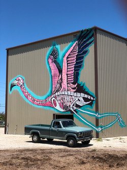 Flamingo Mural at Grassy Key