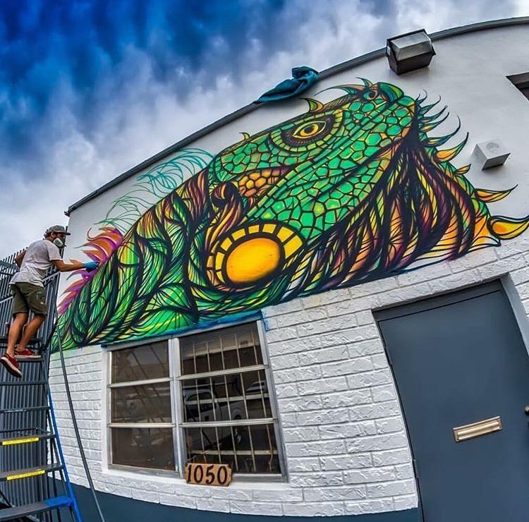 Iguana Mural Painting