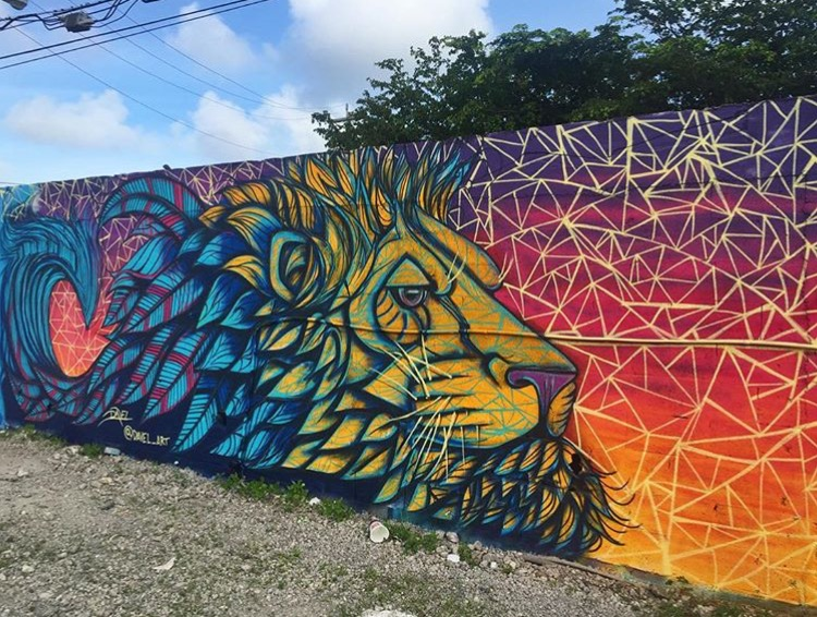 Lion Mural Painting