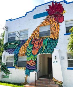 Rooster Mural in Little Havana