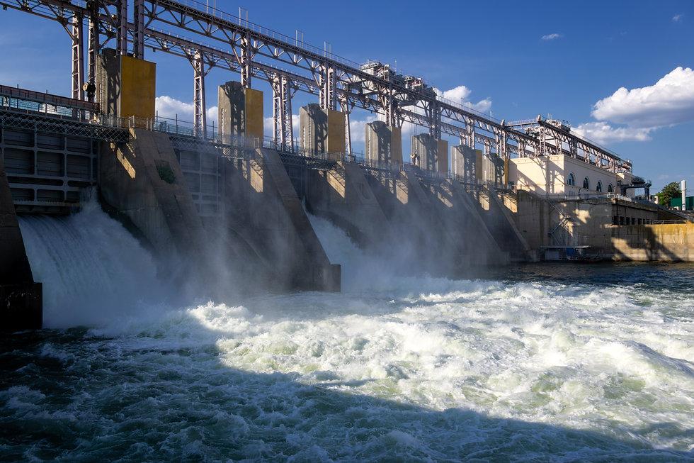 Diversion Hydropower Plant on river Dnie