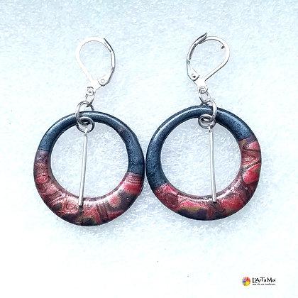 B.o. anneaux gris+rose