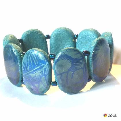 """Bracelet """"tropic lagon"""" bleu"""