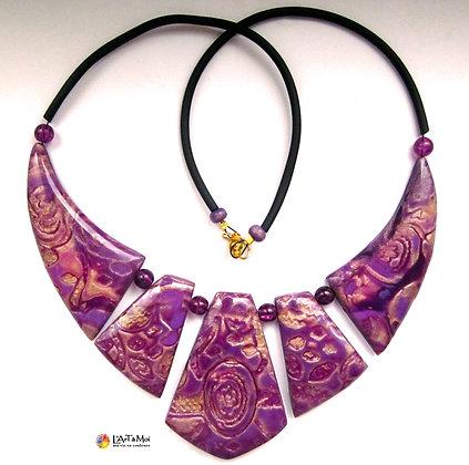 Reine d'Egypte mokume violet