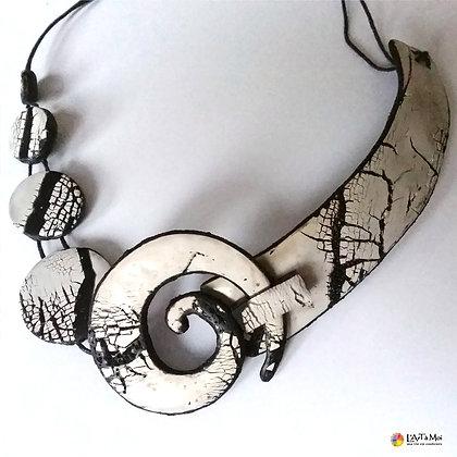Collier spirale 2 (raku)