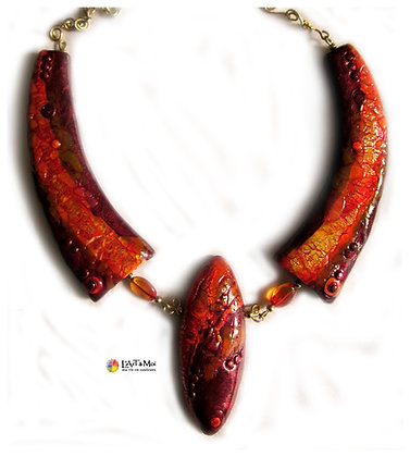 "Collier ""Flamme"""