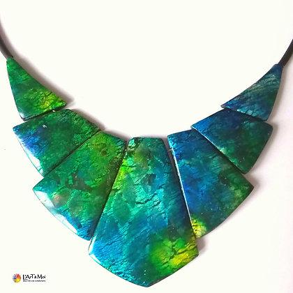 "Collier ""Reine d'Egypte"" turquoise et vert"