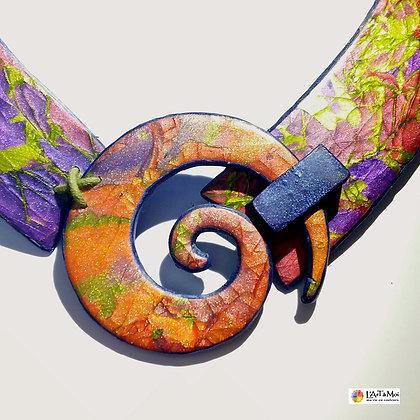Collier spirale 4 multicolore