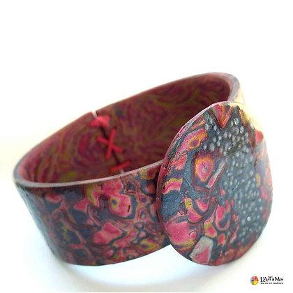 Bracelet gris + rose