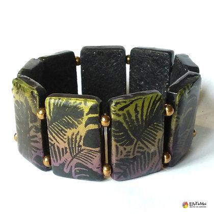 "Bracelet ""tropic lagon""noir"