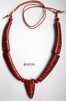 "Collier long ""Rouge"" 2"