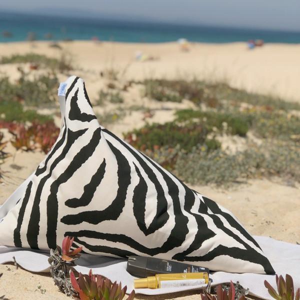 BIG safari black Almofada de Praia