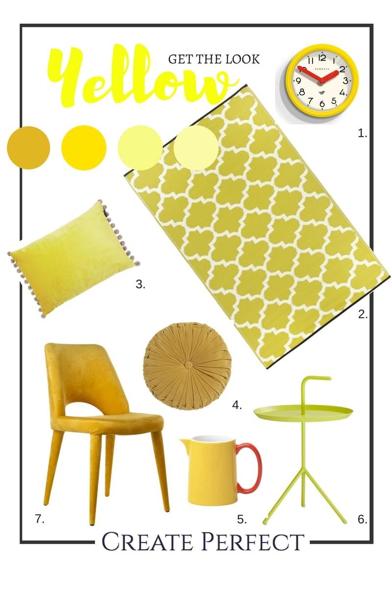 Yellow colour wheel interiors