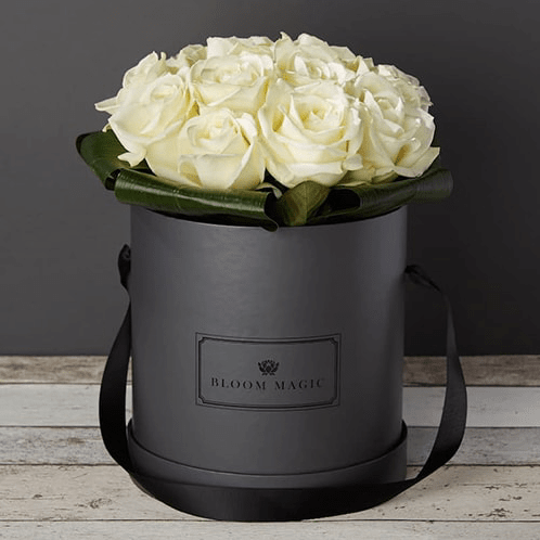 Parisian Hatbox Rose Bouquet delivered by Bloom Magic