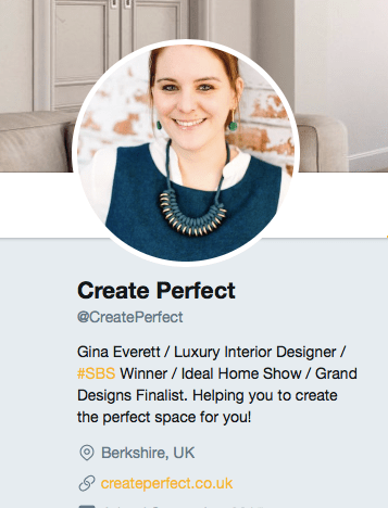 Follow Create Perfect on Twitter