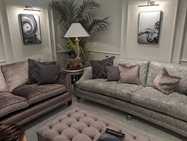 Duresta Velvet Sofa