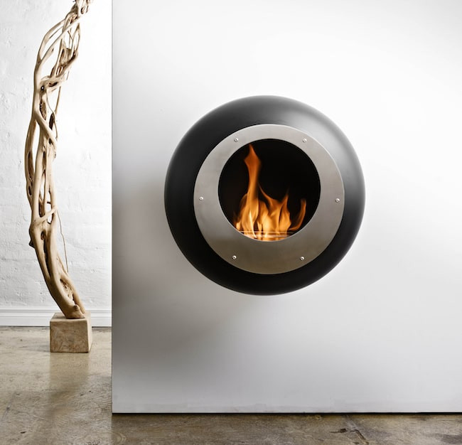 Cocoon fireplace from