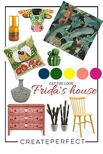 Frida Kahlo inspired home acceossories.j
