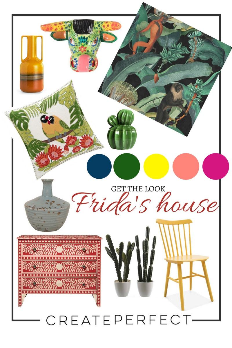 Frida Kahlo style homewares
