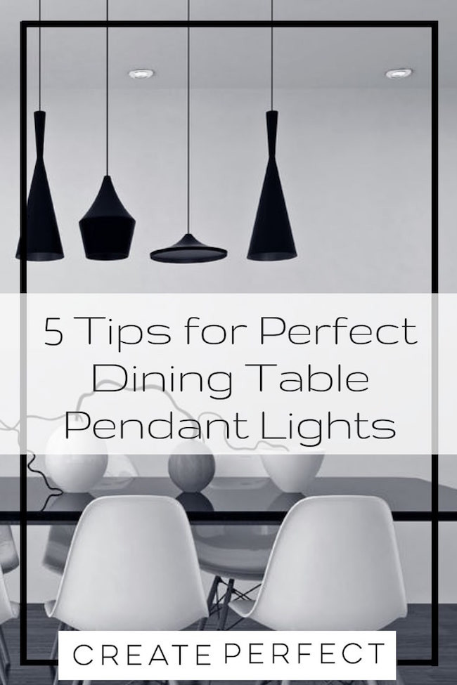 Tips for Dining table pendant lights