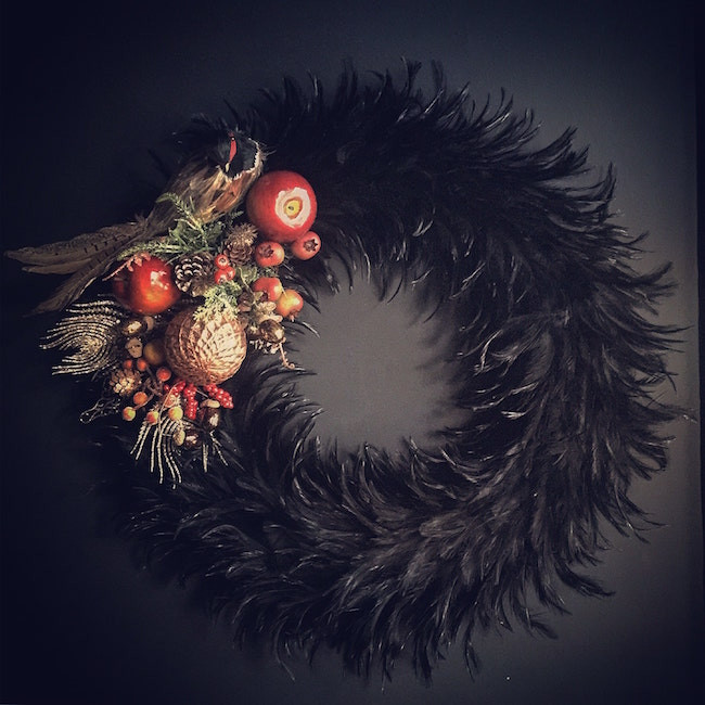 Cassandra King feather Christmas Wreath