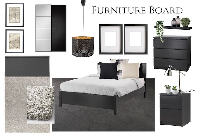 Bedroom furniture mood board