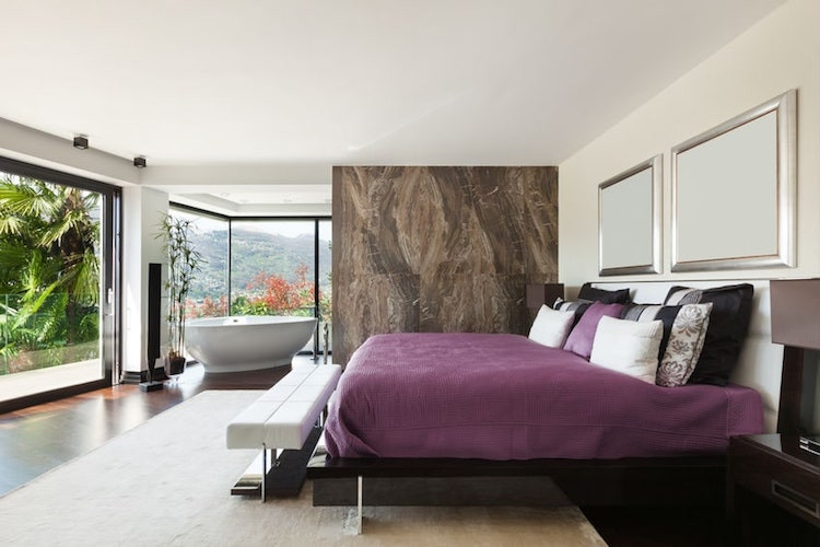 Statement Marble wall in bedroom