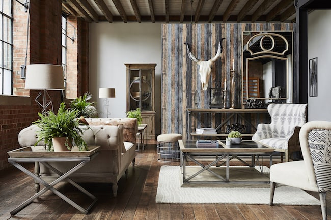 Rustic styled living room