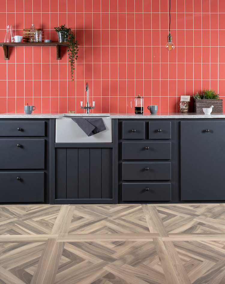 Living coral colour of the year tiles