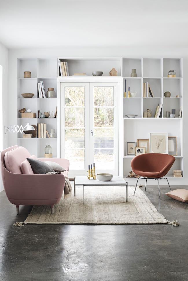 Pink Fritz Hansen Pot Chair